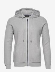 SAND - 5488 - Hoodie Ingram - basic sweatshirts - grey - 0