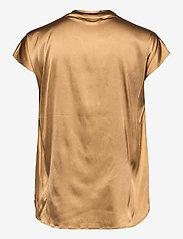 SAND - 3176 - Prosi Top S - blouses met korte mouwen - light camel - 1