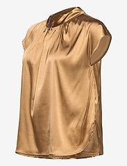 SAND - 3176 - Prosi Top S - blouses met korte mouwen - light camel - 2
