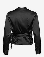 SAND - 3176 - Wrap - blouses met lange mouwen - black - 1