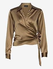 SAND - 3176 - Wrap - blouses met lange mouwen - light camel - 0