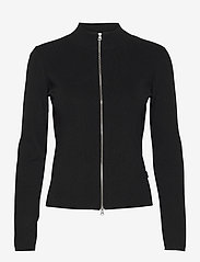 SAND - 5181 - Della Zip - cardigans - black - 0