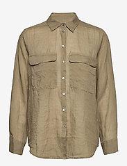 SAND - 8851 - Nami - overhemden met lange mouwen - army green - 0
