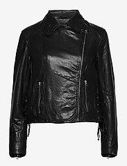 SAND - Vintage Lamb Leather - Natale - leren jassen - black - 0