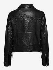 SAND - Vintage Lamb Leather - Natale - leren jassen - black - 1