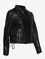 SAND - Vintage Lamb Leather - Natale - leren jassen - black - 3