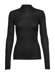 Lurex Viscose - Eleri Top - BLACK