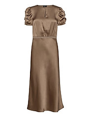 Double Silk - Berenice Dress - LIGHT CAMEL