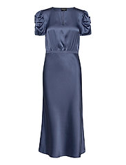 Double Silk - Berenice Dress - MEDIUM BLUE