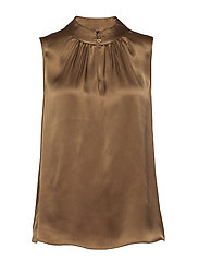 Double Silk - Prosi Top - LIGHT CAMEL