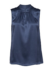 Double Silk - Prosi Top - MEDIUM BLUE
