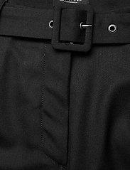 SAND - 2558 - Haim - broeken med straight ben - black - 2