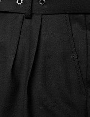 SAND - 2558 - Haim - broeken med straight ben - black - 3
