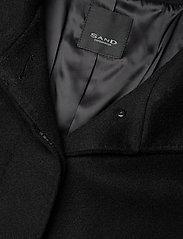 SAND - Cashmere Coat W - Parker 3 - ullkappor - black - 3