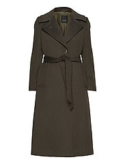 Cashmere Coat W - Clareta Belt - ARMY