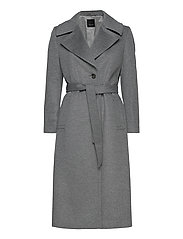 Cashmere Coat W - Clareta Belt - GREY