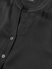 SAND - Satin Stretch - Naolin - short-sleeved blouses - black - 2