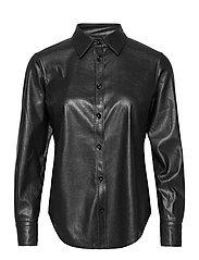 SAND - Vegan Leather - Sandie New - overhemden met lange mouwen - black - 0