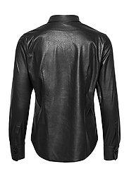 SAND - Vegan Leather - Sandie New - overhemden met lange mouwen - black - 1