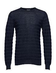 Merino Stripe - Iq - DARK BLUE/NAVY