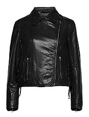 Vintage Lamb Leather - Natale - BLACK