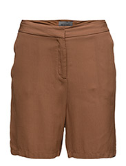 Double Georgette - Dia Shorts - DARK CAMEL