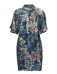 3668 - Prosa Sleeve Dress - MEDIUM BLUE