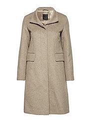 Cashmere Coat W  - Parker 3 - LIGHT CAMEL