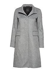 Cashmere Coat W  - Parker 3 - MEDIUM GREY