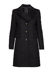 Cashmere Coat W  - Britni 2 - BLACK