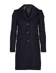 Cashmere Coat W  - Britni 2 - MEDIUM BLUE