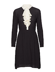 Crepe S - Amabelle Dress - BLACK