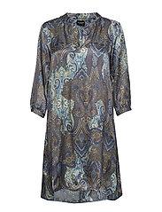 3302 - Dinora Dress - BLUE