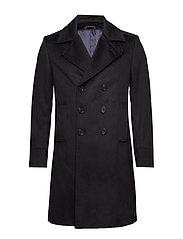 Cashmere Coat - Hardy - BLACK