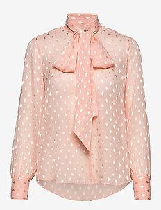 3162 - Marley - langermede bluser - pale pink