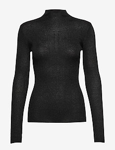 Lurex Viscose - Eleri Top - trøjer - black