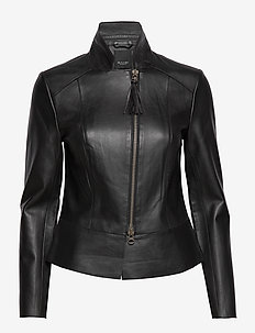 Bonded Leather - Charo - leren jassen - black