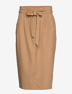 6253 - Aran Skirt - LIGHT CAMEL