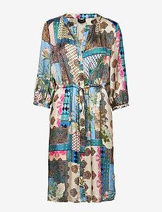 3370 - Zihia Dress V - midimekot - blue