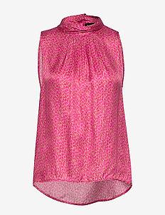 3367 - Prosa Top - Ärmellose blusen - pink