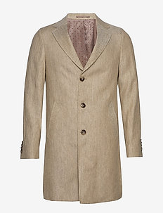 7415 - Retro Coat - kevyet päällystakit - light camel