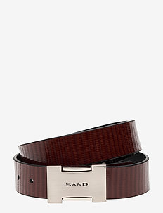 Belts - B092 - 35mm - COGNAC/BLACK