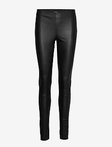 Stretch Leather - Shamar - spodnie skórzane - black