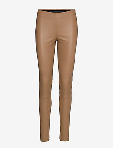 Stretch Leather - Shamar - leather trousers - light camel