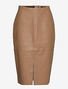 Stretch Leather - Nyx - jupes midi - light camel