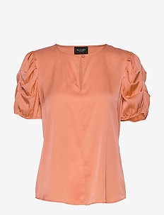 Satin Stretch - Berenice - short-sleeved blouses - pink