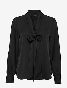 Satin Stretch - Marley - blouses lange mouwen - black