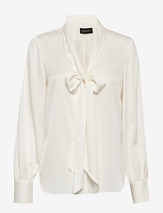 Satin Stretch - Marley - blouses lange mouwen - off white