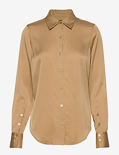Satin Stretch - Bibi - blouses lange mouwen - light camel