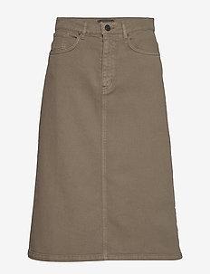 0639 - Kathy Skirt - jeanskjolar - olive/khaki